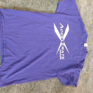 Purple soccer t shirt